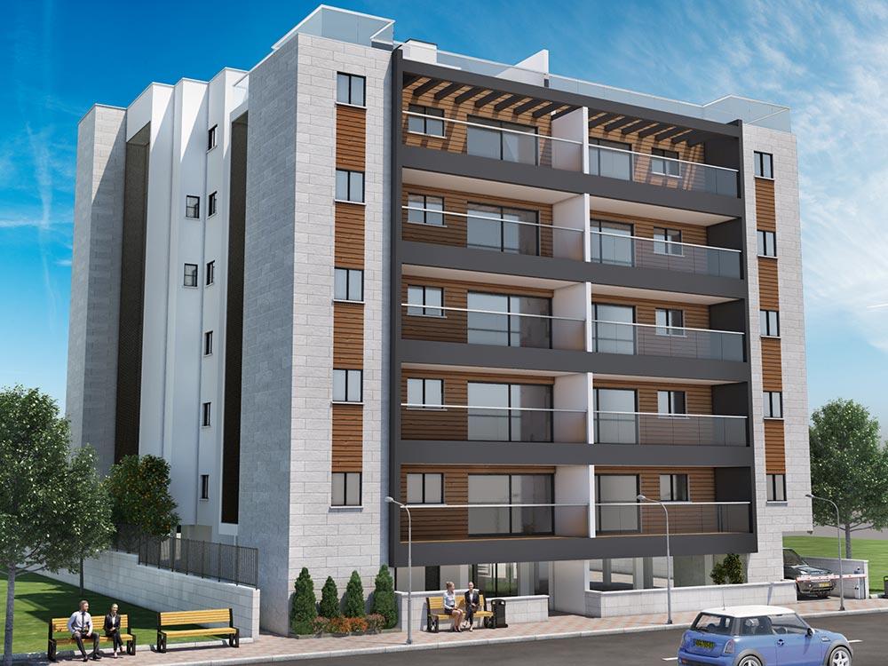 """פרויקט מסוג תמ״א 38/1 של קטה יזמות, בו יחוזק בניין בן 12 יחידות דיור ויתווספו 10 יח""""ד. הפרויקט ממוקם ברחוב כרמלי בשכונת עין גנים בפתח תקווה."""