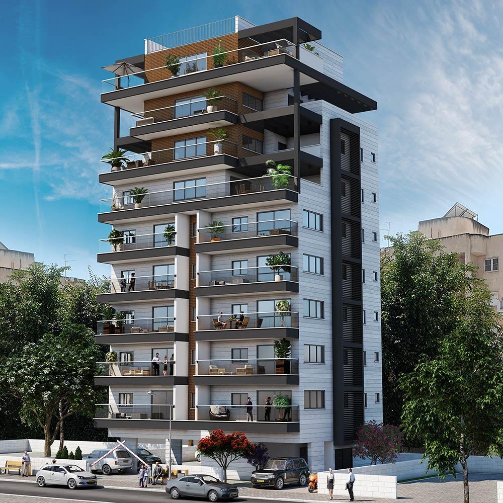 פרויקט חיים כהן 6 של קטה יזמות בניה והשקעות בו ייהרס מבנה ישן בן 4 דירות ובמקומו ייבנה בניין בוטיק חדש בן 14 דירות בסה״כ.